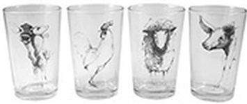 Farm Animal Glass Set of 4 at Zenbar - Best Spa Oakville